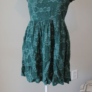 Mossimo Supply Co. Dresses - SALE : Green Short sleeved fall colors Mini Dress
